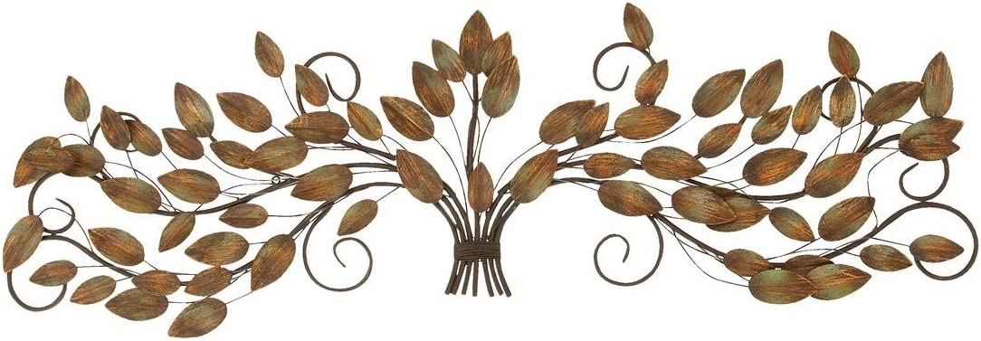 Deco 79 63366 Metal Leaf Wall Decor, 47 by 14-Inch