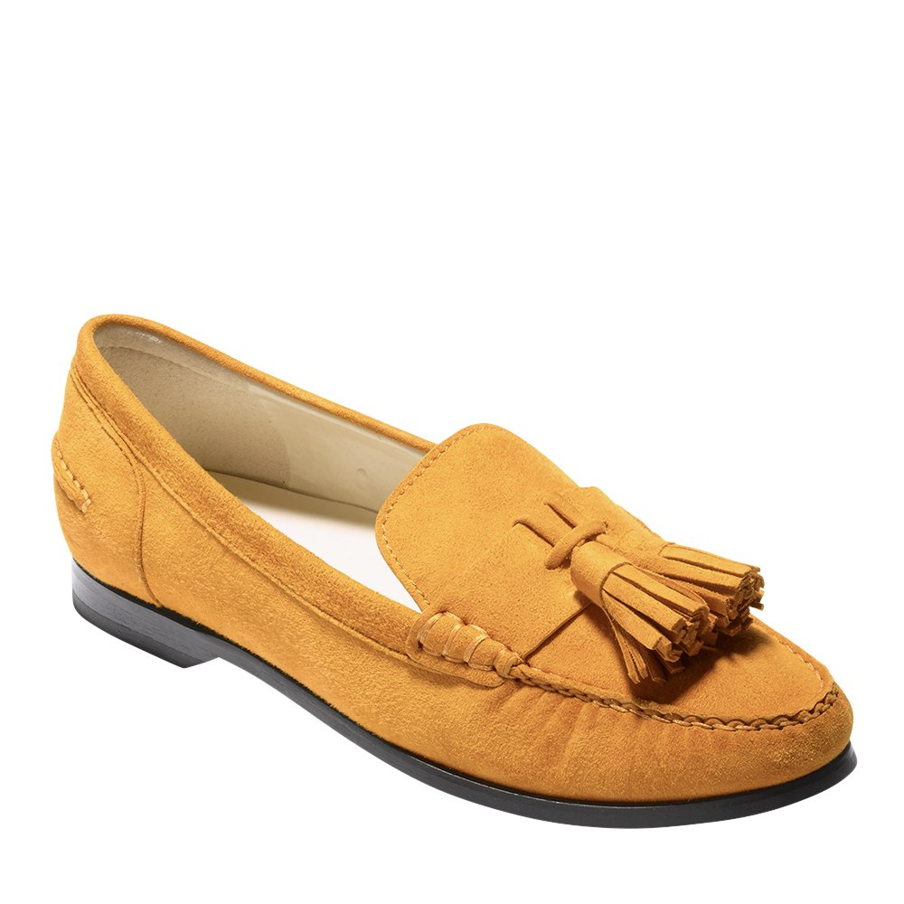 Cole Haan Womens Emmons Tassel Loafer 11 Inca Gold Suede