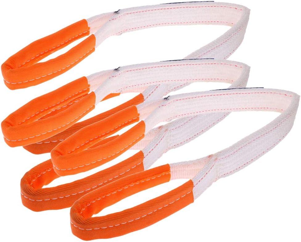 3er Pack Abschleppseil 2 Tonnen Schleppseil Abschlepphilfe Zugseil Mit verst/ärkten Schlaufen