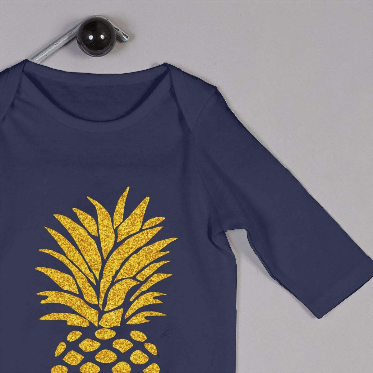 Mri-le1 Newborn Baby Jumpsuit Gold Pineapple Kid Pajamas