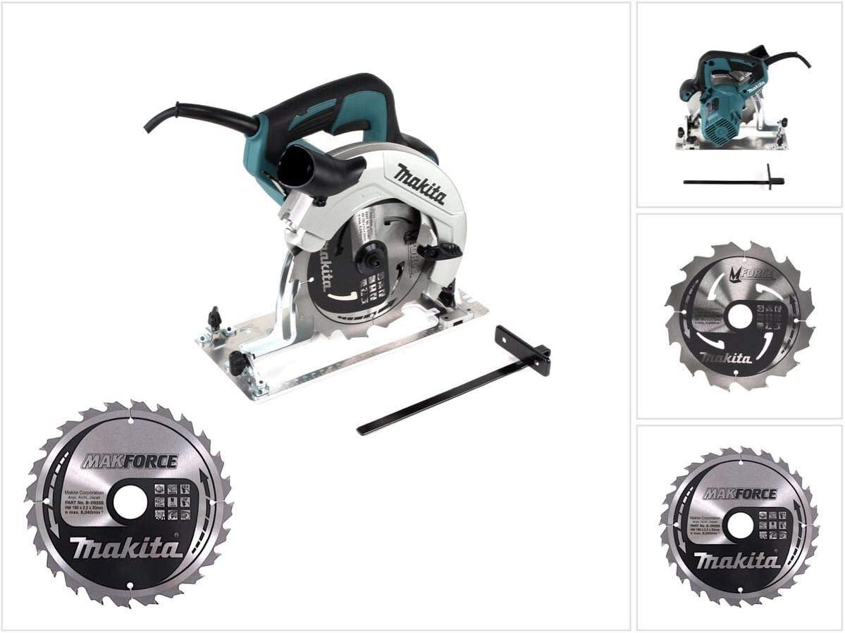 Makita HS 7611 1600 W - Sierra circular de mano (190 mm, en caja ...