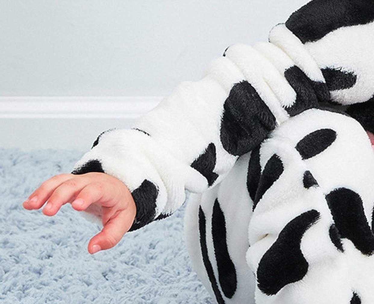 EOZY Pagliaccetto Neonato Unisex Invernale Bimba Tuta con Cappuccio Tutina Fumetto Outfits Pigiama