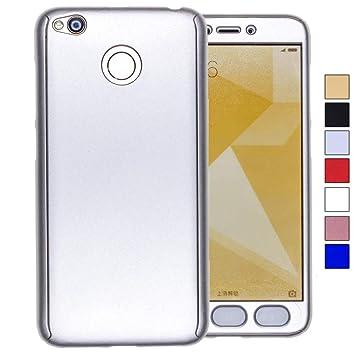 COOVY® Funda para Xiaomi Redmi 4X 360 Grados, Carcasa Ultrafina y Ligera, con Protector de Pantalla, protección de Cuerpo Completo | Color Lata