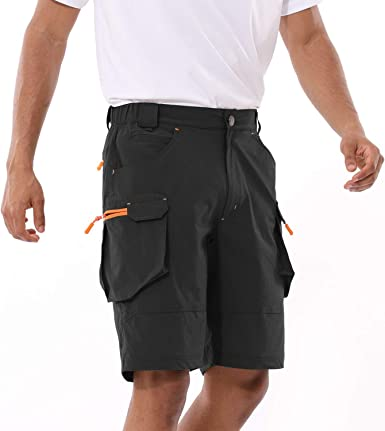 Quick Dry Cargo Shorts Water Resistant for Hiking Camping BALEAF Mens Hiking Shorts UPF 50 Travel