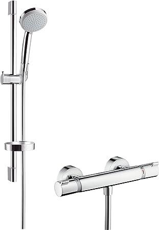 Hansgrohe 27034000 Croma 100 Vario set de ducha con termostato, 0 ...