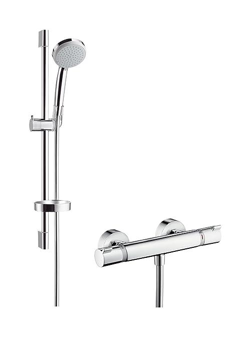 Hansgrohe 27034000 Croma 100 Vario set de ducha con termostato, 0,65m, 2
