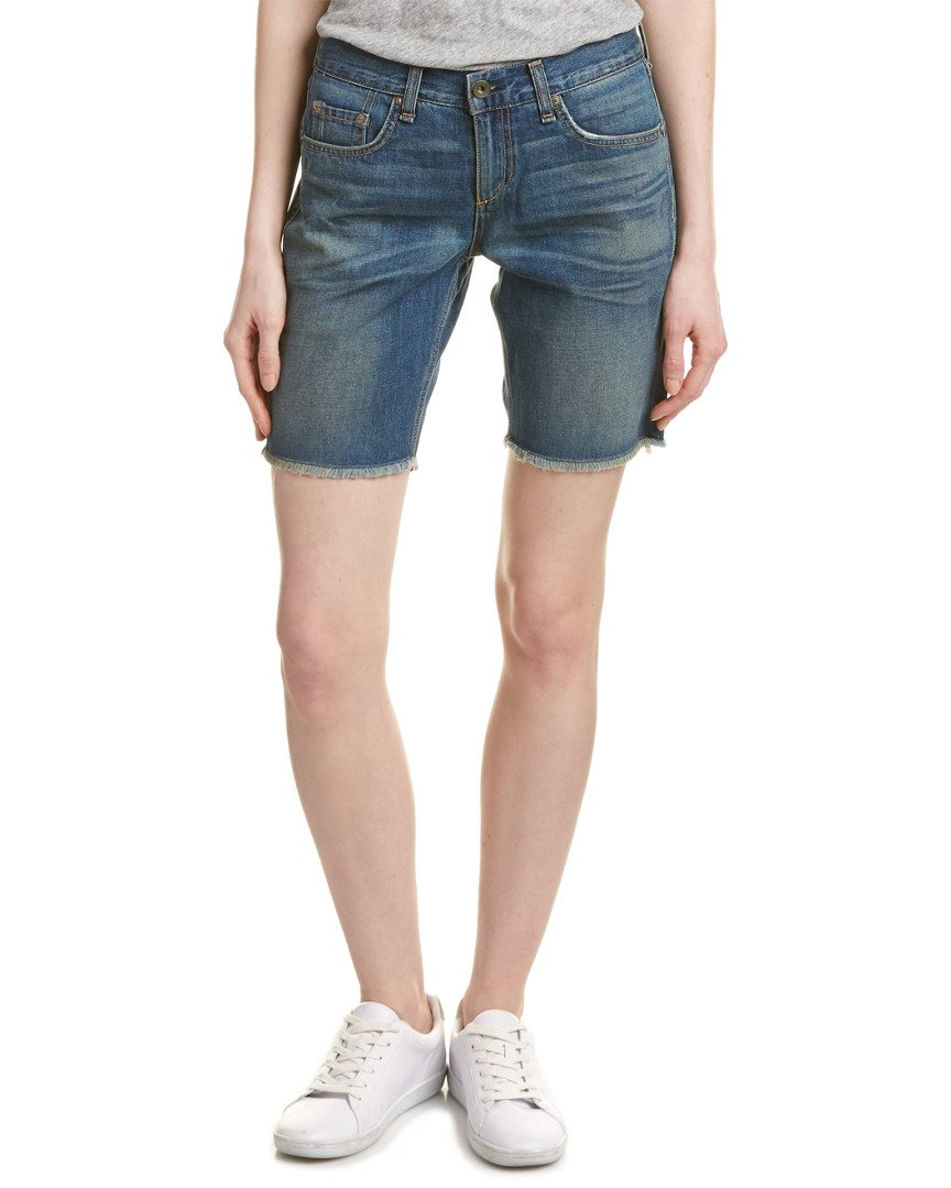 rag & bone Jean Women's Distressed Denim Walking Shorts in Gia Wash (Blue) (25) by rag & bone (Image #1)