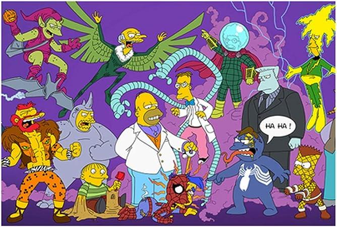 VAST Rompecabezas for el Muchacho de Las Amigas Regalo, Animado de Dibujos Animados Los Simpson Brain Challenge Cartón Puzzle, 300/500/1000/1500 PC 514 (Color : C , Size : 500pc) : Amazon.es: Juguetes y juegos