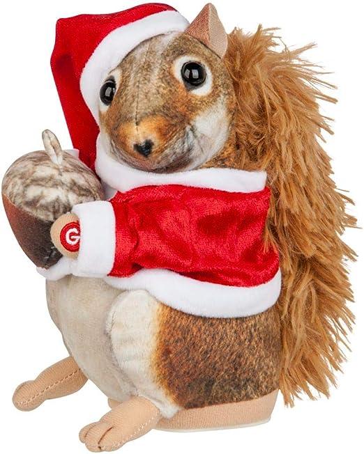 Amazon Com Animated Dancing Or Singing Plush Christmas Toy Tooting Santa Llama Unicorn Poop Squirrel Mommy Kissing Santa Kitchen Dining