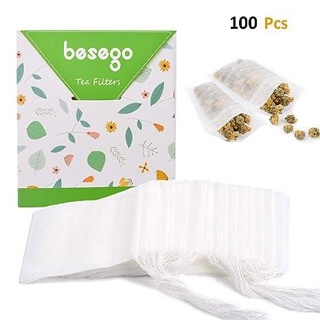 Amazon.com: SUNUNICO - Bolsas de filtro de té desechables ...
