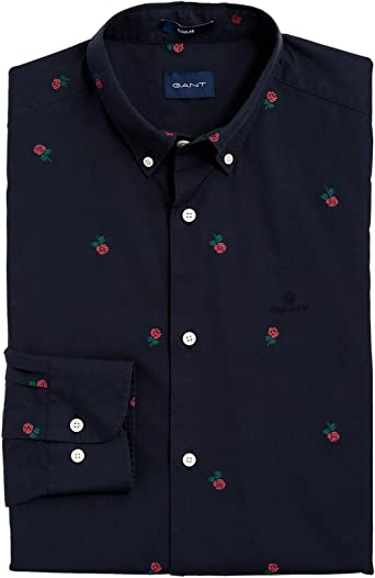 Gant - Camisa Casual - Manga Larga - para Hombre Azul 410 Marine M ...
