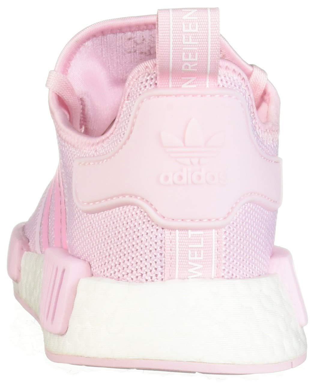 adidas Originals Unisex NMD_R1 Running Shoe Clear Shock Pink/White, 3.5 M US Big Kid by adidas Originals (Image #2)