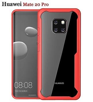 ZSCHAO Funda Huawei Mate 20 antigolpes Airbag Carcasa Slim Fit HD Transparente Funda Anti Amarillo Suave TPU Silicona hibrida Ligero Case Cover Rugged ...