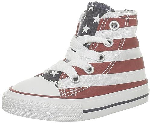 Converse Stars & Bars Hi 020820-21-3 - Zapatillas de tela para niños, color blanco, talla 26: Amazon.es: Zapatos y complementos