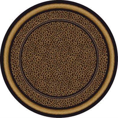 Milliken Signature Zambia Print Onyx Rug Rug Size: Round 7'7