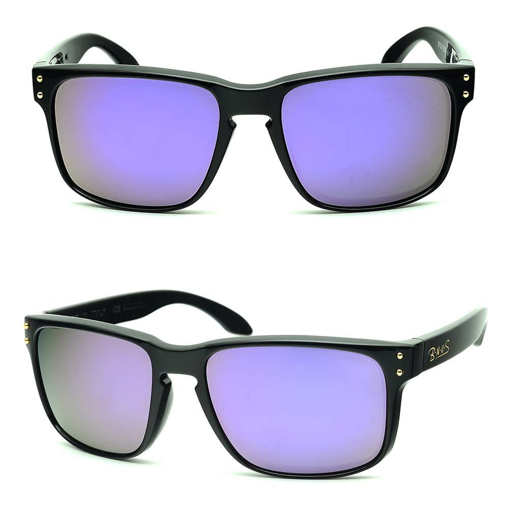 7534d4535d6 Galleon - BNUS Italy Made Classic Sunglasses Corning Real Glass Lens W. Polarized  Option (Frame  Black