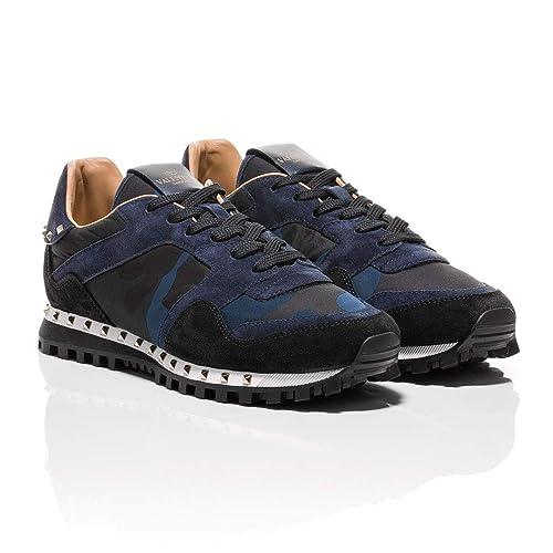 Valentino - Zapatillas para Hombre Azul Marino, Color, Talla 38 EU: Amazon.es: Zapatos y complementos
