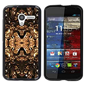 Paccase / SLIM PC / Aliminium Casa Carcasa Funda Case Cover para - Copper Golden Bling Brilliant Jewels Design - Motorola Moto X 1 1st GEN I XT1058 XT1053 XT1052 XT1056 XT1060 XT1055