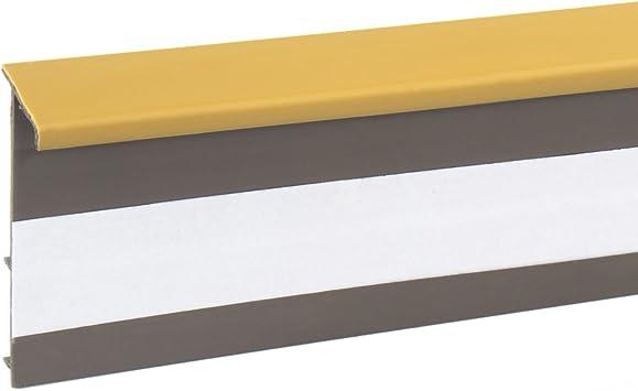 2,5m TEPPICHLEISTEN 50mm HONIG Kettelleisten aus Kunststoff Fussbodenleiste Laminat Dekore Parkett Scheuerleiste