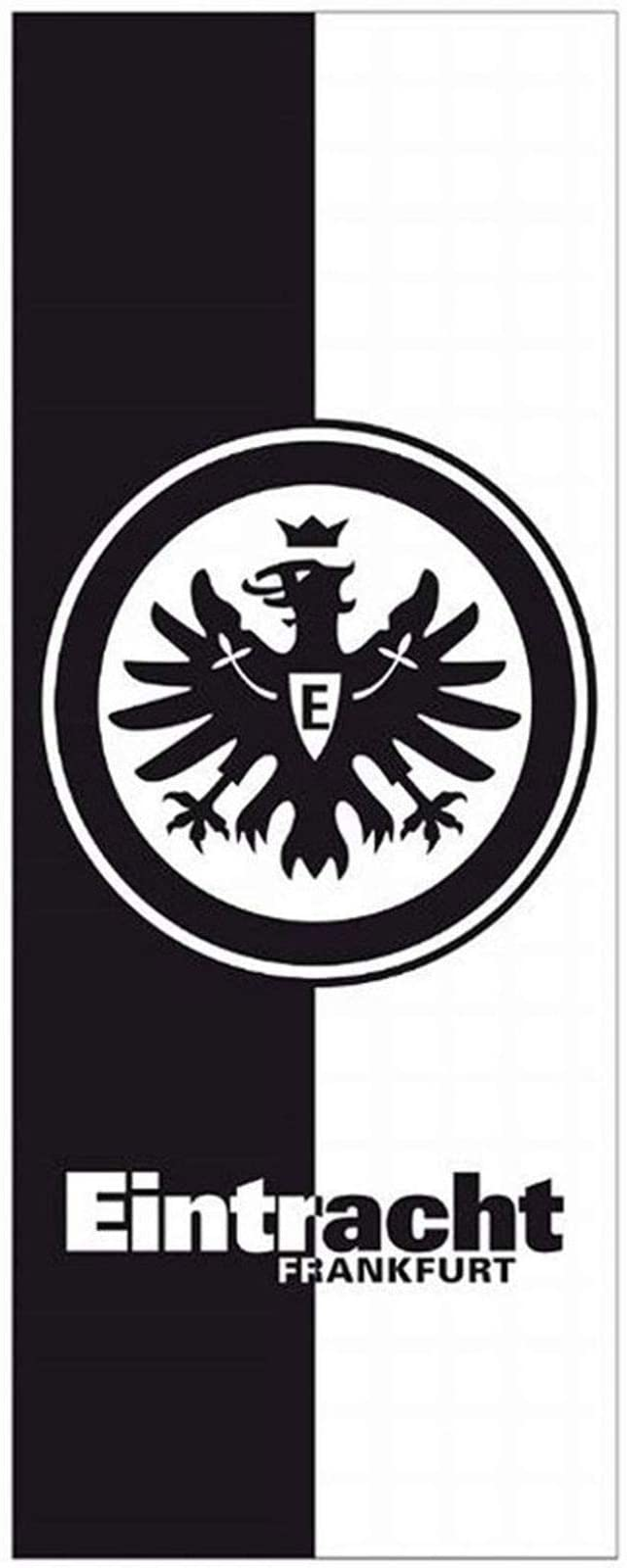 Eintracht Frankfurt Handtuch schwarz//wei/ß 50x100 cm