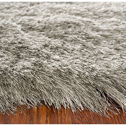 Safavieh Paris Shag Collection SG511-7575 Silver Polyester Area Rug (5' x 7')