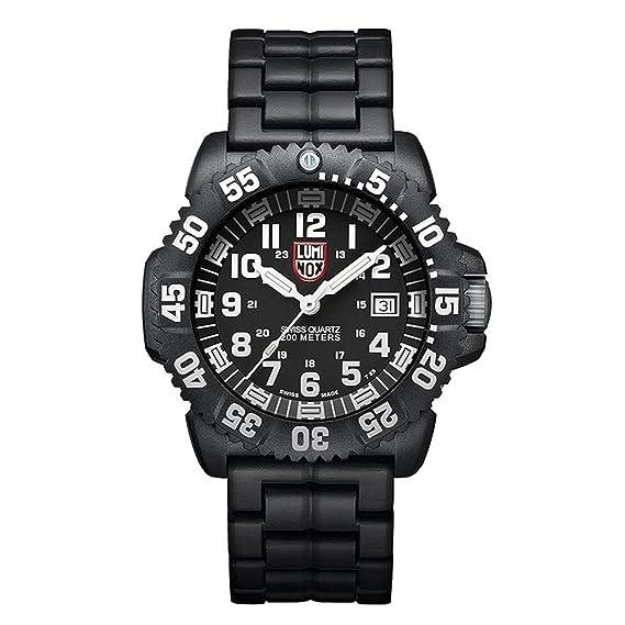 Luminox Navy SEAL Colormark XS.3052 Reloj de Plásticolsera Cuarzo Hombre correa de Plástico Negro: Amazon.es: Relojes