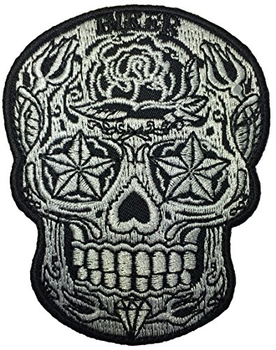 skull-rose-star-patch-biker-heavy-metal-logo-jacket-vest-shirt-hat-blanket-backpack-t-shirt-patches-