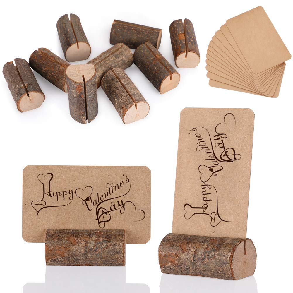 Rustic Wood Place Card Holders 40 Pcs Wooden Memo Holder Card Photo Picture Note Clip Holders Escort Card Holder fastUU Table Numbers Holder for Party Weddings