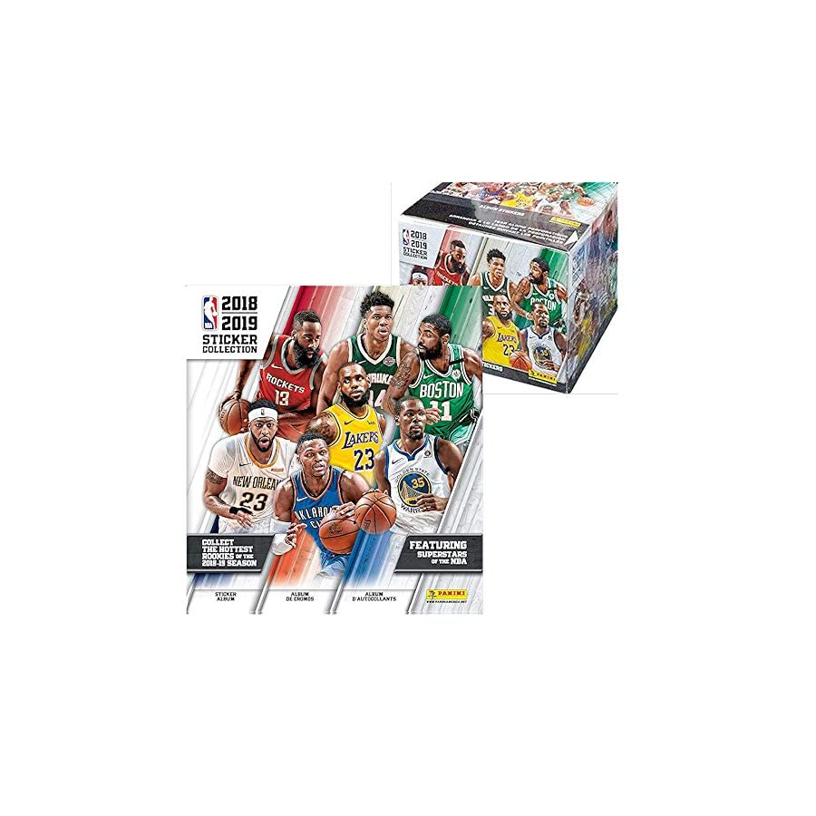 2018/19 Panini NBA Basketball Sticker Collection Master Kit (1 50 pack box & 1 album)