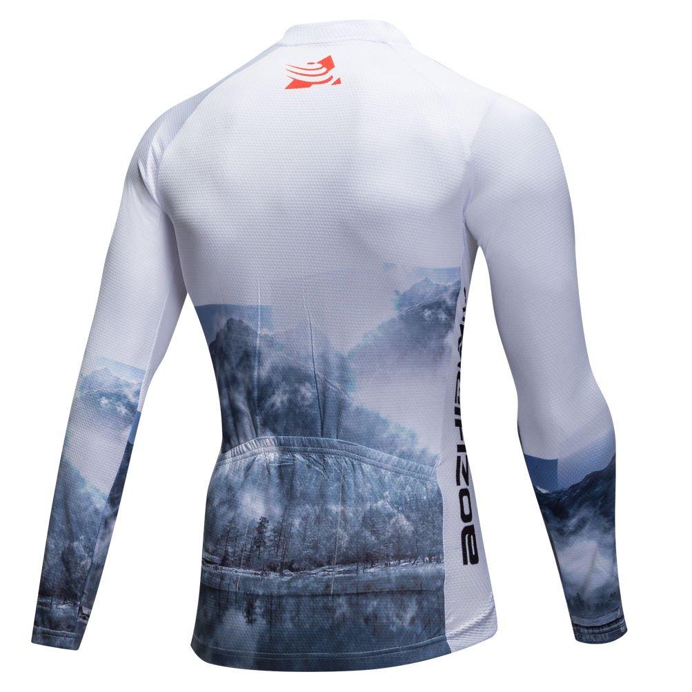 Uriah Mens Cycling Jersey Long Sleeve Thermal Fleece