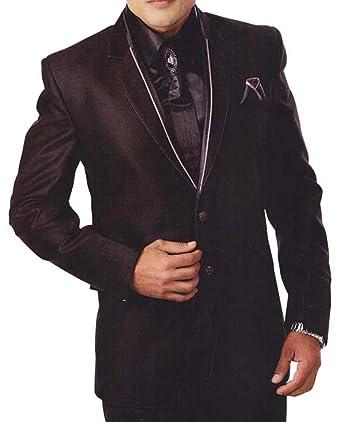 INMONARCH Hombres 6 Pc traje negro esmoquin diseñador de moda ...