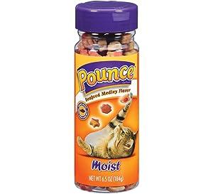 Pounce Cat Treats Seafood Medley Net Wt 6.5 oz(184g)
