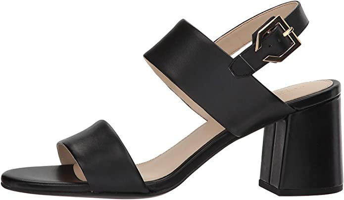 Cole Haan Womens Avani City Sandal 65mm Heeled, Black Leather, Size 6.5