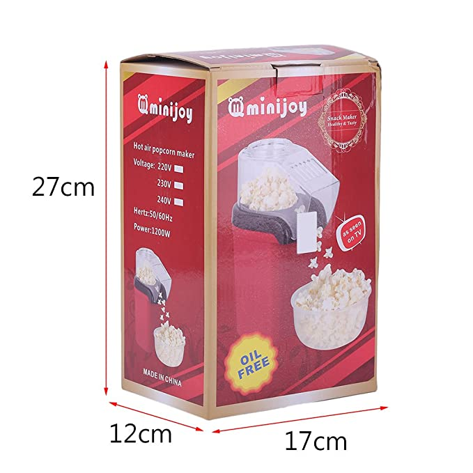 preup Automat Popcorn Maker Palomitero 1200 W fresca de maíz Palomitero: Amazon.es: Hogar