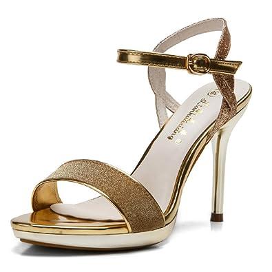 Amazon.com | Meeshine Womens High Heel Sandals Wedding Dress Sandal ...