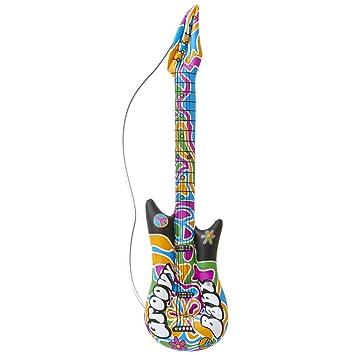 Amakando Guitarra de Aire Groovy Guitarra Hippie para ...
