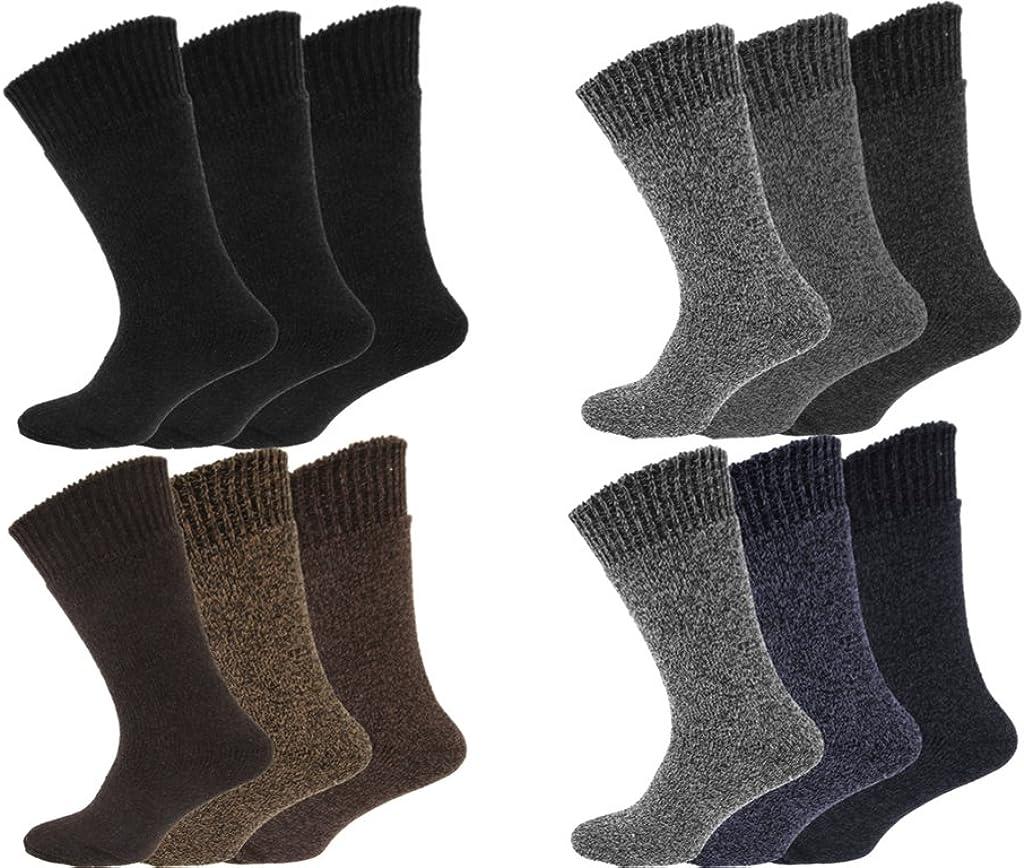 12 Pairs Men's Non Elastic Wool Socks