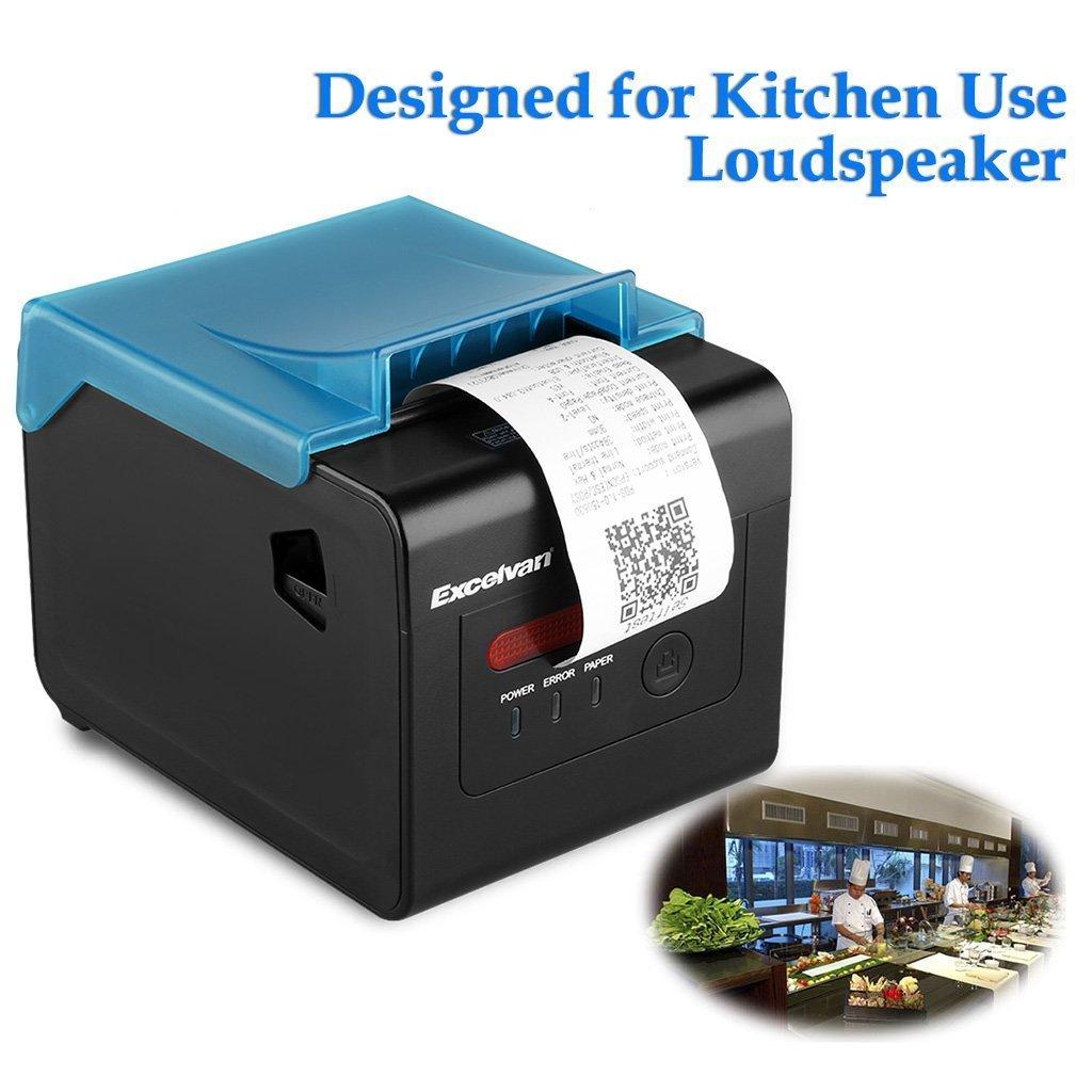 Excelvan 300mm / sec 58mm-80mm AUTO-CUT Stampante Portatile di Ricevimento Termico USB Ethernet Porta Seriale Speciale per la Cucina EU Generico