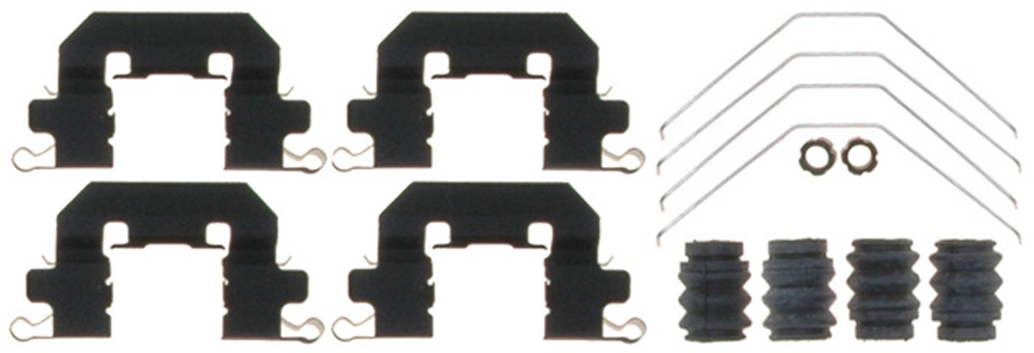 and Bushings Springs ACDelco 18K2104X Professional Front Disc Brake Caliper Hardware Kit with Clips Seals