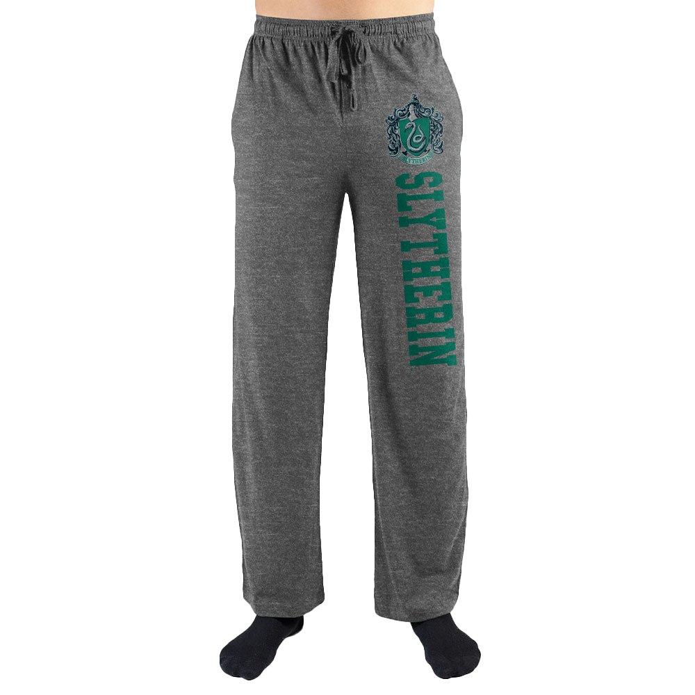 Harry Potter Slytherin Men's Pajama Pants (Charcoal, Medium)