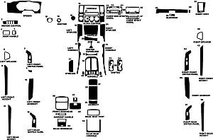 Rdash Dash Kit Decal Trim for Toyota 4Runner 2003-2005 - Camouflage (Green)
