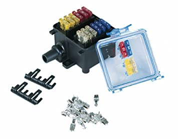 com hella waterproof fuse box way spade hella 005993131 waterproof fuse box 12 way spade connectors