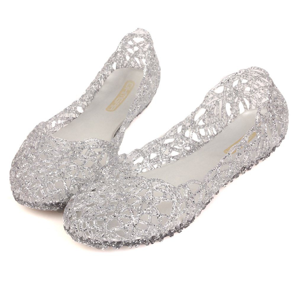 ea9e64fc9df61b Domucos Womens Sandals Flat Jelly Shoes Slip On Hollow Out Loafers   Amazon.ca  Shoes   Handbags