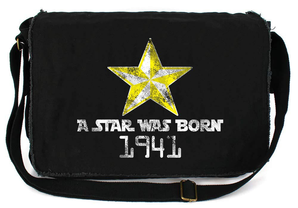Tenacitee A Star Was Born 1941 Grey Brushed Canvas Messenger Bag