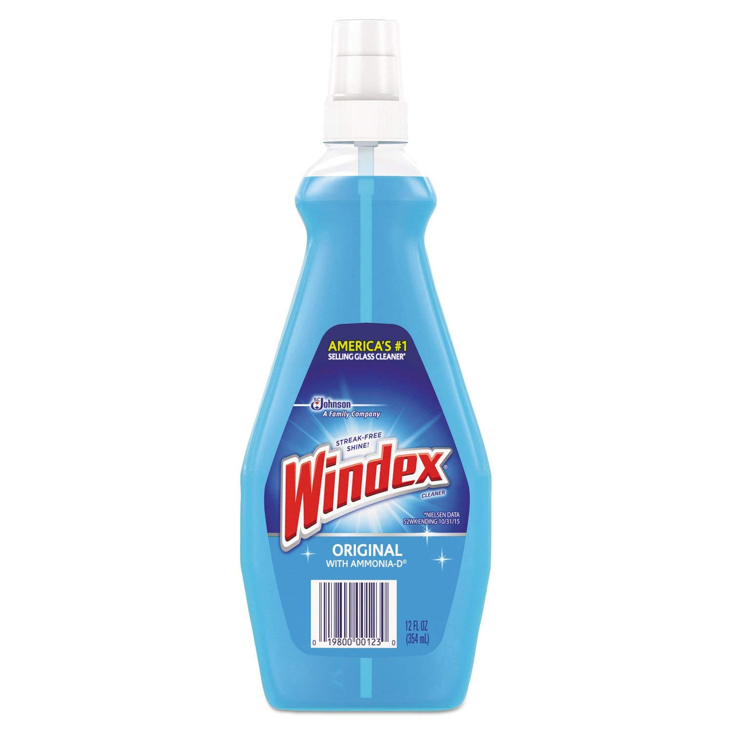 Windex Glass Cleaner, 12 oz, Blue, PK12 by Windex