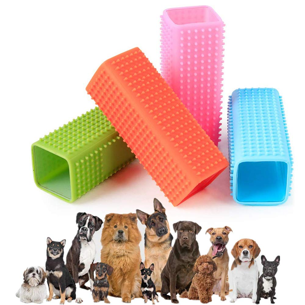 NOBGP 8 Pack Hollow Pet Hair Remover Rubber Pet Dog Cat Hair Remover Self Grooming for Cars Furniture Carpet Clothes Sofa Food Grade Silicone Cleaner Brush