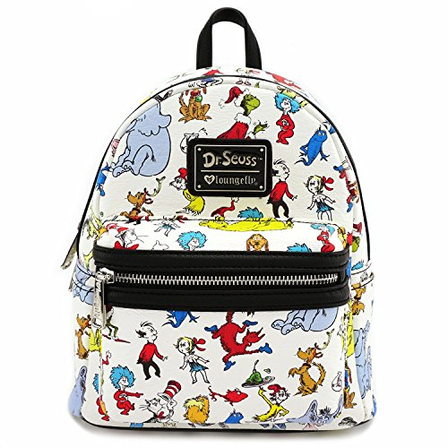 Loungefly x Dr Seuss Character Print Mini Faux Leather Backpack (One Size, Multi) -
