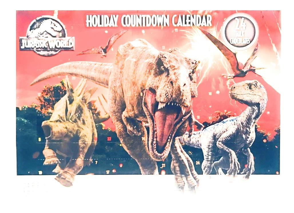 Jurassic World Holiday Countdown Advent Calendar Milk Chocolate