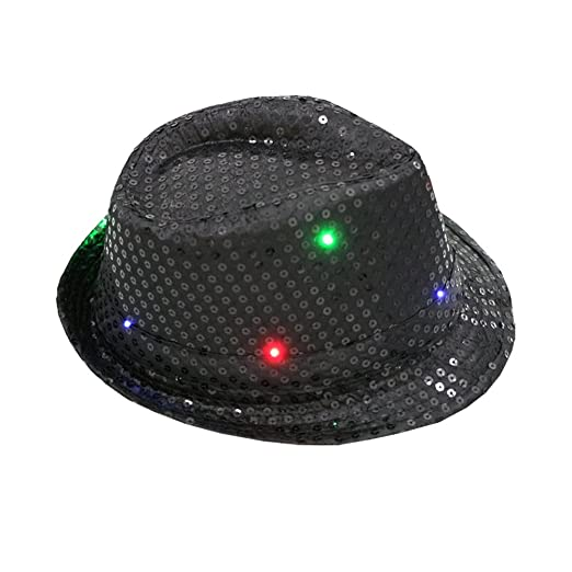 Amazon.com  Fedora Hat Jazz Hat Cap Dance Hat Glitter Sequins ... 6241c48ecc1a