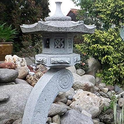 Jardín Farol de piedra japonés piedra natural de ensueño – nigata: Amazon.es: Jardín